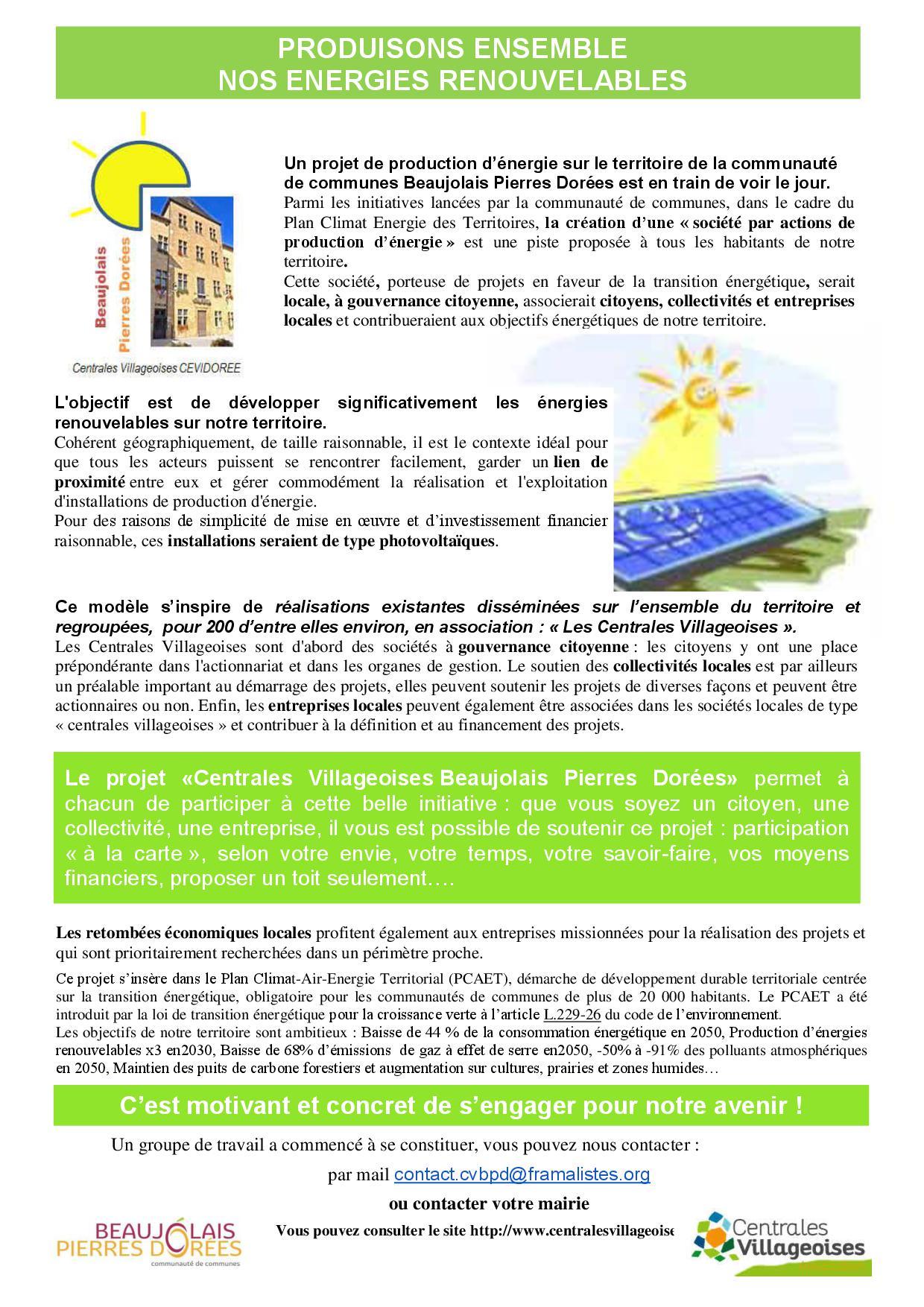 Produisons ensemble nos énergies renouvelables