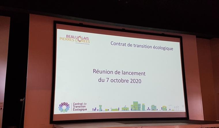 réunion Contrat de Transition Ecologique
