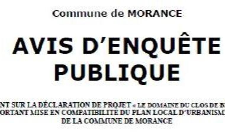 Avis d'enquête publique Morancé
